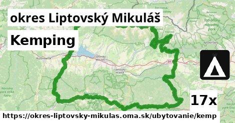 kemping v okres Liptovský Mikuláš