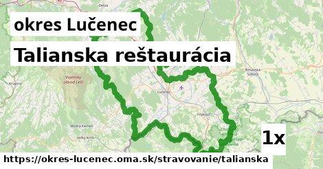 ilustračný obrázok k Talianska reštaurácia, okres Lučenec
