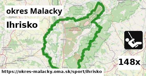 ihrisko v okres Malacky