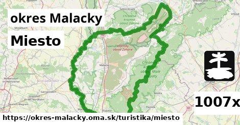 miesto v okres Malacky