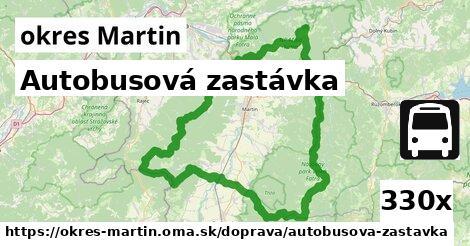autobusová zastávka v okres Martin