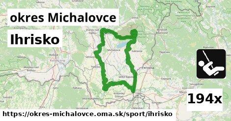 ihrisko v okres Michalovce