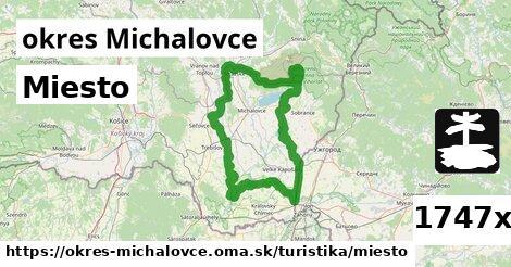 miesto v okres Michalovce