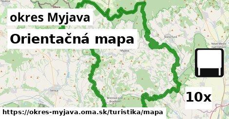 orientačná mapa v okres Myjava