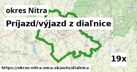 ilustračný obrázok k Príjazd/výjazd z diaľnice, okres Nitra