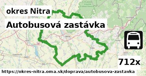 Autobusová zastávka, okres Nitra