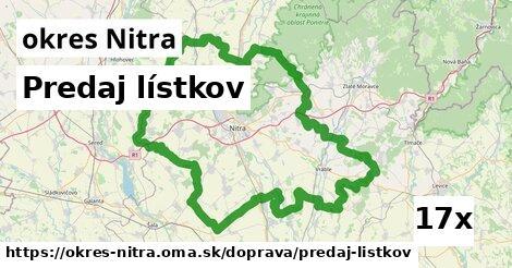 predaj lístkov v okres Nitra