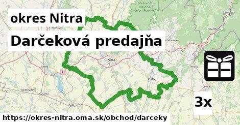 ilustračný obrázok k Darčeková predajňa, okres Nitra