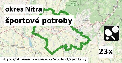 ilustračný obrázok k športové potreby, okres Nitra