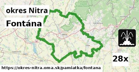 fontána v okres Nitra