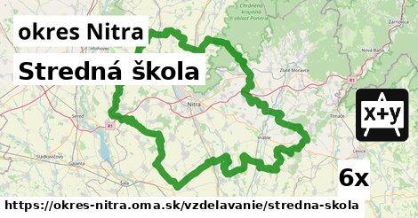 ilustračný obrázok k Stredná škola, okres Nitra