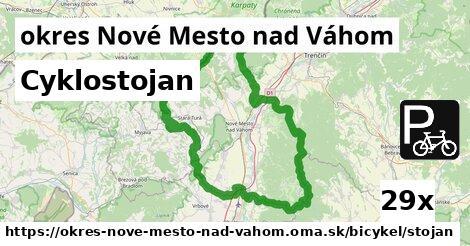 cyklostojan v okres Nové Mesto nad Váhom