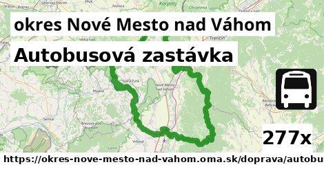 autobusová zastávka v okres Nové Mesto nad Váhom