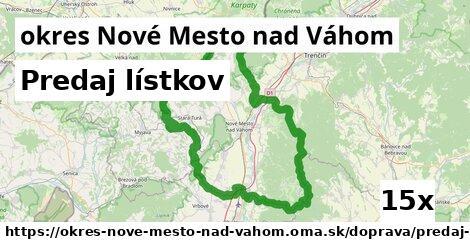 ilustračný obrázok k Predaj lístkov, okres Nové Mesto nad Váhom