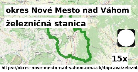 ilustračný obrázok k železničná stanica, okres Nové Mesto nad Váhom