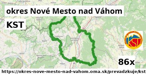 KST v okres Nové Mesto nad Váhom
