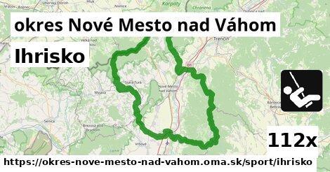 ihrisko v okres Nové Mesto nad Váhom