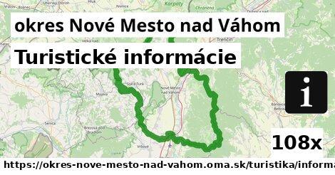 turistické informácie v okres Nové Mesto nad Váhom