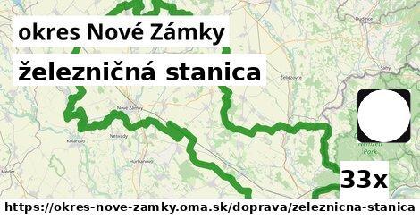 ilustračný obrázok k železničná stanica, okres Nové Zámky