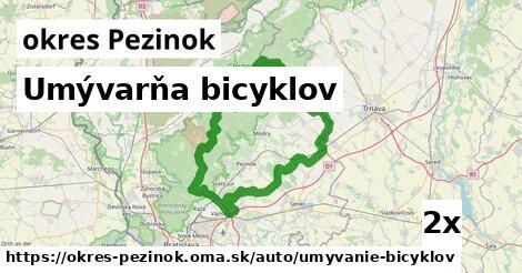 ilustračný obrázok k Umývarňa bicyklov, okres Pezinok