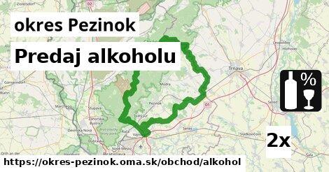 ilustračný obrázok k Predaj alkoholu, okres Pezinok
