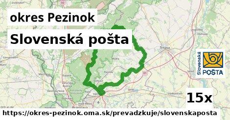 ilustračný obrázok k Slovenská pošta, okres Pezinok