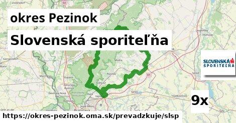 ilustračný obrázok k Slovenská sporiteľňa, okres Pezinok