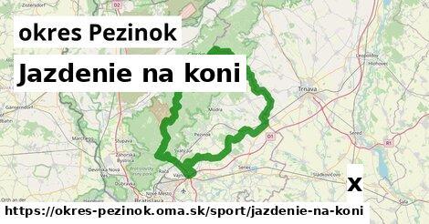 ilustračný obrázok k Jazdenie na koni, okres Pezinok