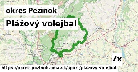 ilustračný obrázok k Plážový volejbal, okres Pezinok