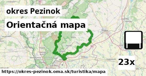 ilustračný obrázok k Orientačná mapa, okres Pezinok