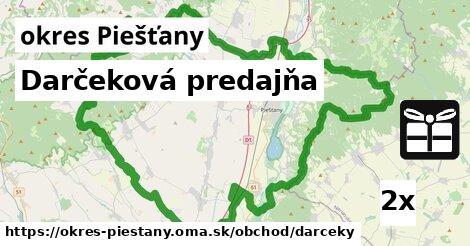 ilustračný obrázok k Darčeková predajňa, okres Piešťany