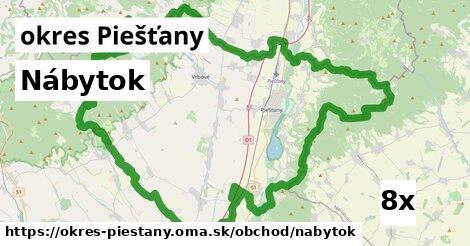 ilustračný obrázok k Nábytok, okres Piešťany