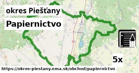 ilustračný obrázok k Papiernictvo, okres Piešťany