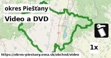 ilustračný obrázok k Video a DVD, okres Piešťany