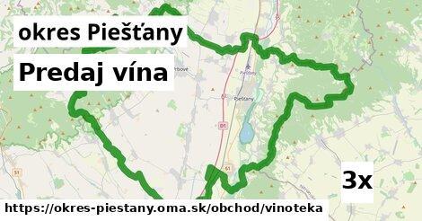 ilustračný obrázok k Predaj vína, okres Piešťany