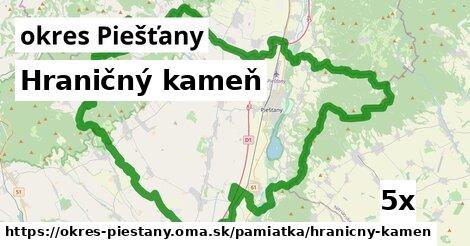 hraničný kameň v okres Piešťany