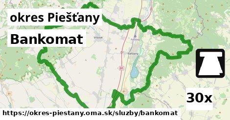 ilustračný obrázok k Bankomat, okres Piešťany