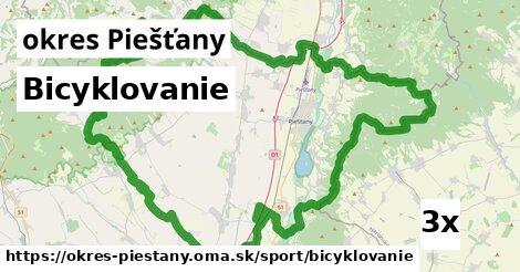 ilustračný obrázok k Bicyklovanie, okres Piešťany