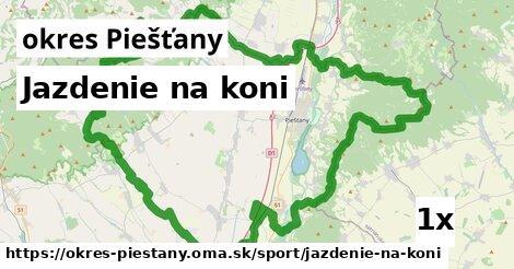 ilustračný obrázok k Jazdenie na koni, okres Piešťany