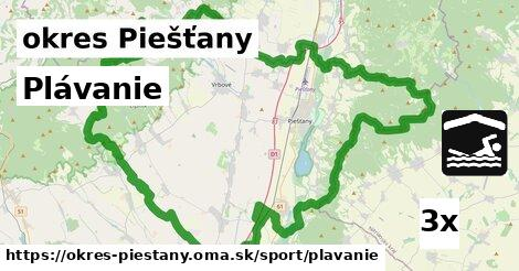 ilustračný obrázok k Plávanie, okres Piešťany