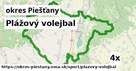 ilustračný obrázok k Plážový volejbal, okres Piešťany