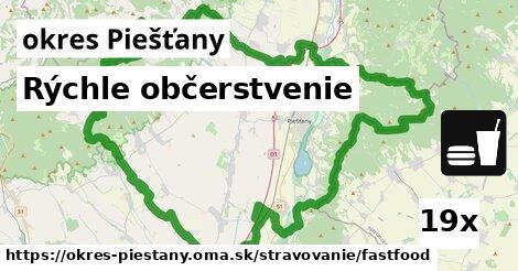 rýchle občerstvenie v okres Piešťany