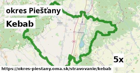 kebab v okres Piešťany