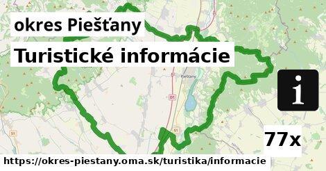 turistické informácie v okres Piešťany