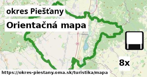 ilustračný obrázok k Orientačná mapa, okres Piešťany