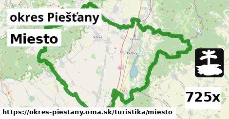 miesto v okres Piešťany