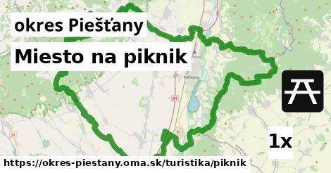 ilustračný obrázok k Miesto na piknik, okres Piešťany