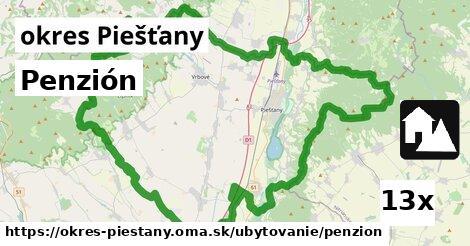 penzión v okres Piešťany