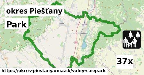 park v okres Piešťany