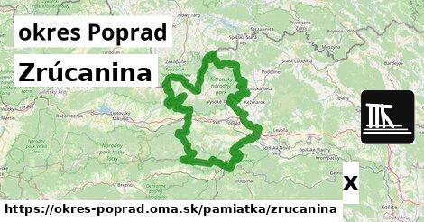 ilustračný obrázok k Zrúcanina, okres Poprad